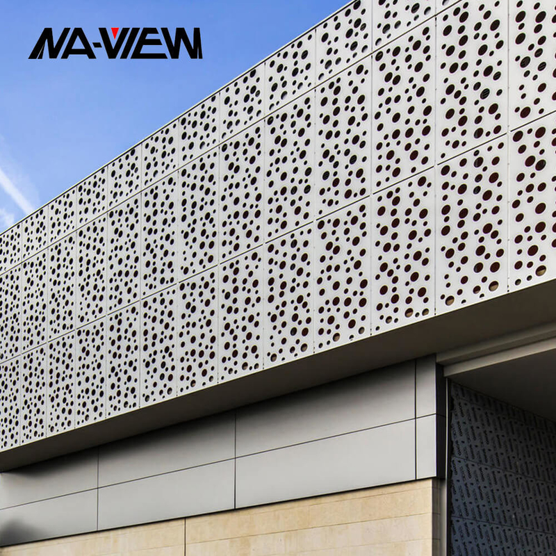 Aluminium Guard Round Hole Perforated Metal Screen Panel