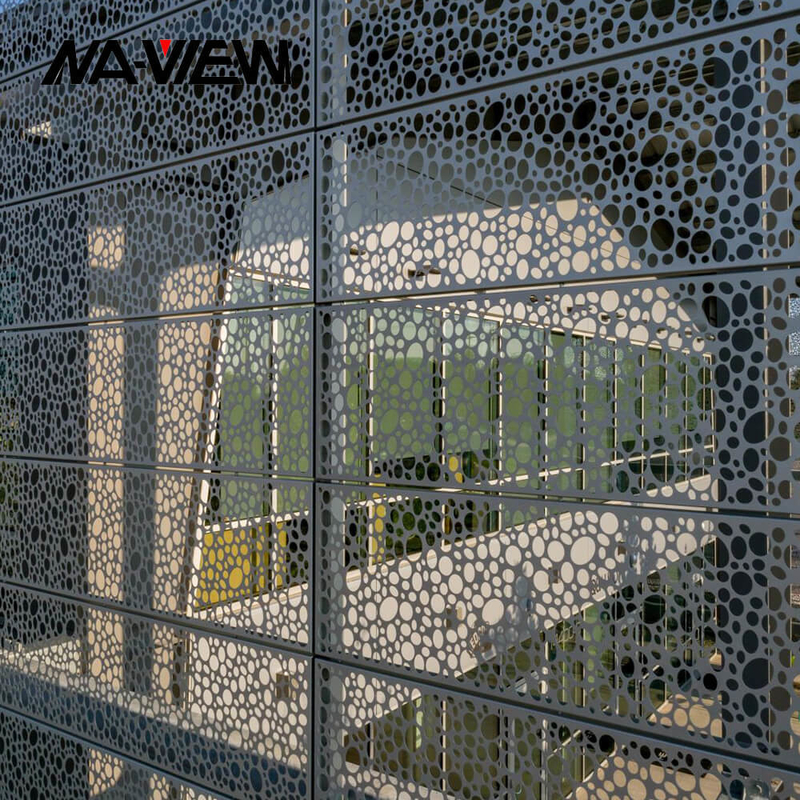 Aluminum External 600*1200mm Perforated Metal Wall Cladding